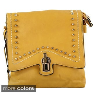 Michael Michelle 'Rivera' Studded Cross-body Handbag