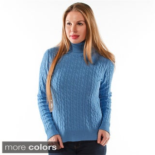 Luigi Baldo Women's Italian Cashmere Turtleneck Sweater