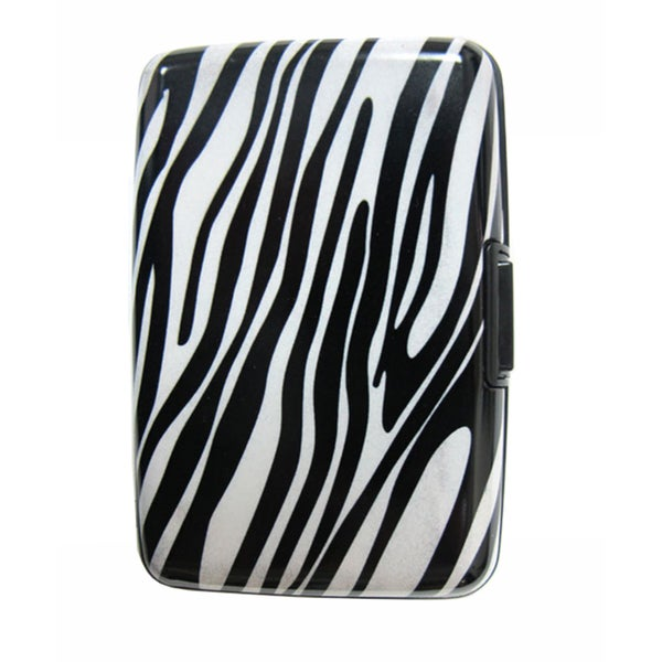 As Seen on TV Zebra Design Aluminum Wallet