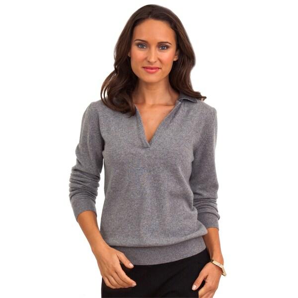 Luigi Baldo Women's Italian Cashmere V-neck Sweater