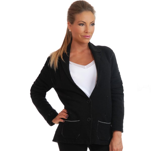Luigi Baldo Women's Cashmere Blend Sweater Jacket