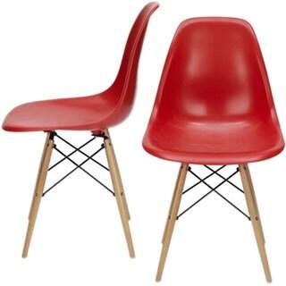 Modern Design Red Dillon Chair (Set of 2)