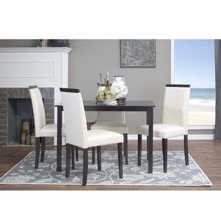 Baxton Studio Milano White Modern Dining Chairs (Set of 2)
