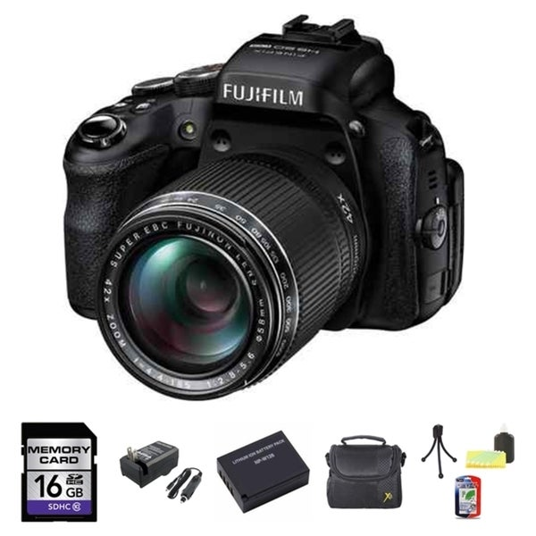 Fuji FinePix HS50EXR 16MP Digital Camera 16GB Bundle