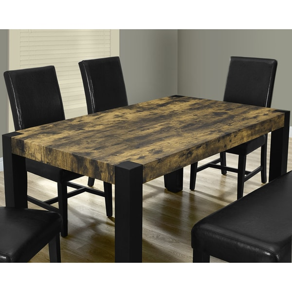 Distressed Reclaimed Look Black Dining Table 16795973 Overstock