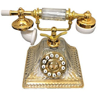 Golden Eagle Retro French Style Crystal Phone