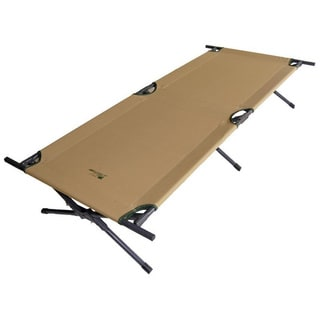 Brown Folding Camping Cot
