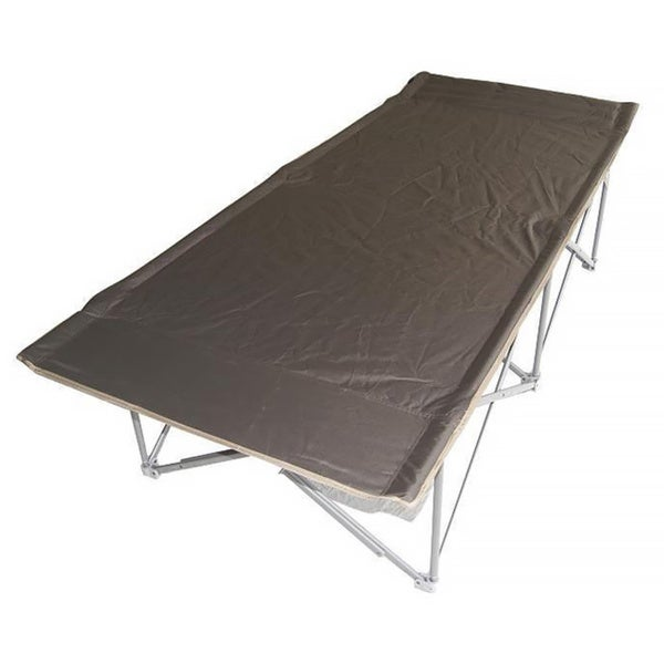 Oversized Grey Padded Trim Camping Cot