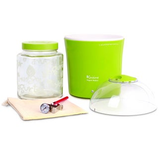 Euro Cuisine Glass Jar Yogurt and Greek Yogurt Maker in Green
