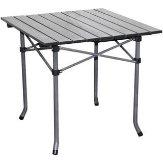 Aluminum Roll Slat Dove Grey Table