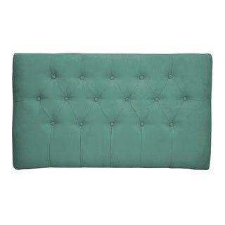 Teal Tufted Twin Suede Headboard