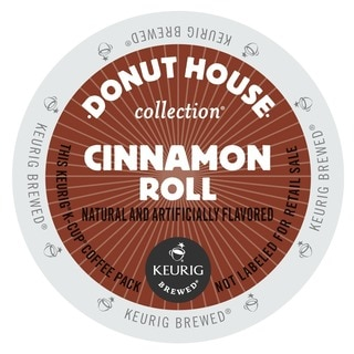 Donut House Collection Cinnamon Roll Coffee, K-Cup Portion Pack for Keurig Brewers