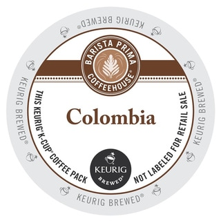 Barista Prima Coffeehouse Colombia Coffee, K-Cup Portion Pack for Keurig Brewers