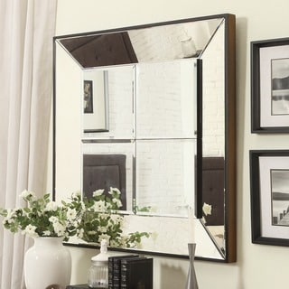 INSPIRE Q Dubois Beveled Multipanel Square Accent Wall Mirror