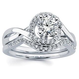 14k White Gold 1ct Round Diamond Bridal Ring Set (I-J, I1-I2)