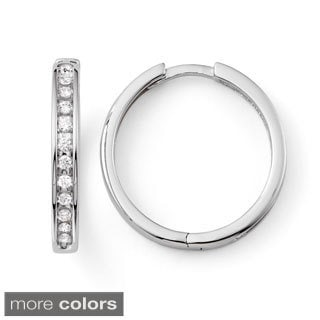10k Gold 1/3ct TDW Diamond Hoop Earrings (H-I, I2-I3)