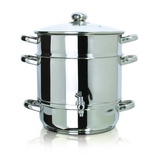 Euro Cuisine Stainless Steel Stove Top Steam Juicer
