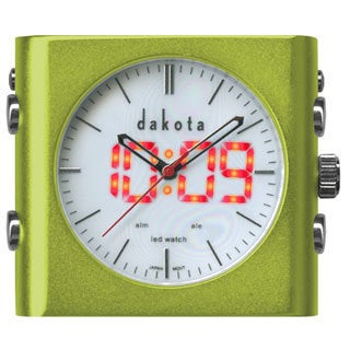 Dakota L.E.D. Dual Time Hybrid Clock