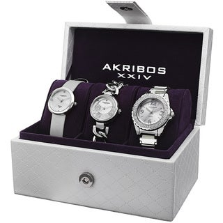 Akribos Women's Strap/Bracelet Watch Set