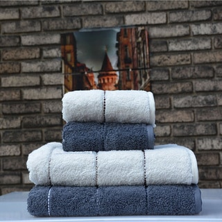 Avila 100-percent Fine Turkish Cotton 4-Piece Towel Set