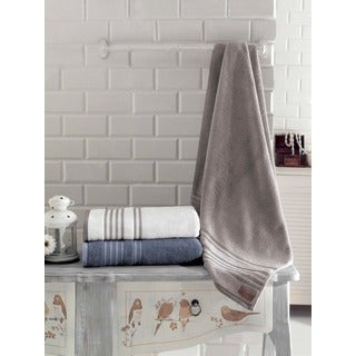 Enchante Brook 100-percent Fine Turkish Cotton 3-piece Towel Set
