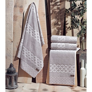Enchante Carrol 100-percent Fine Turkish Cotton 4-piece Towel Set