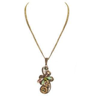Sweet Romance Dragonfly Trellis Crystal Necklace