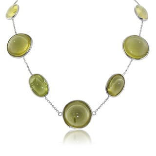 Gioelli Sterling Silver Lemon Quartz Gemstone Pendant Necklace