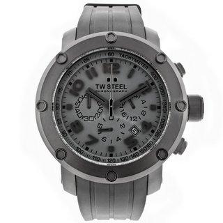 TW Steel Men's 'Grandeur Tech' Black PVD Coated Stainless Steel Chronograph TW128 Watch