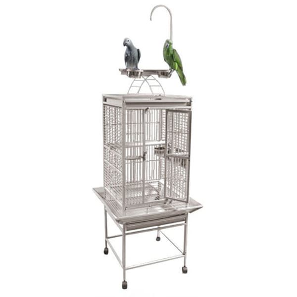 Play Top Bird Cage with Perch and Toy Hook