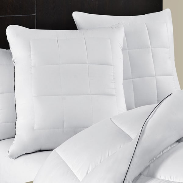 Maisn Luxe Ultimate Comfort & Support Luxury European Square Pillows (Set of 2)