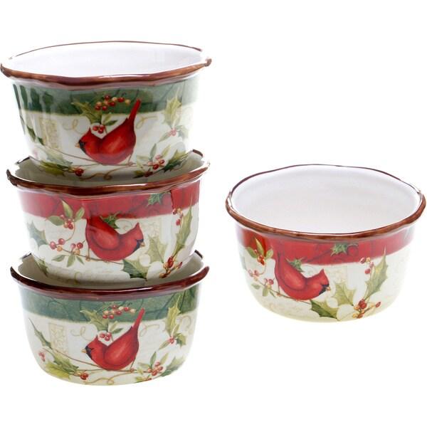 Certified International Winter Wonder Ice Cream Bowls