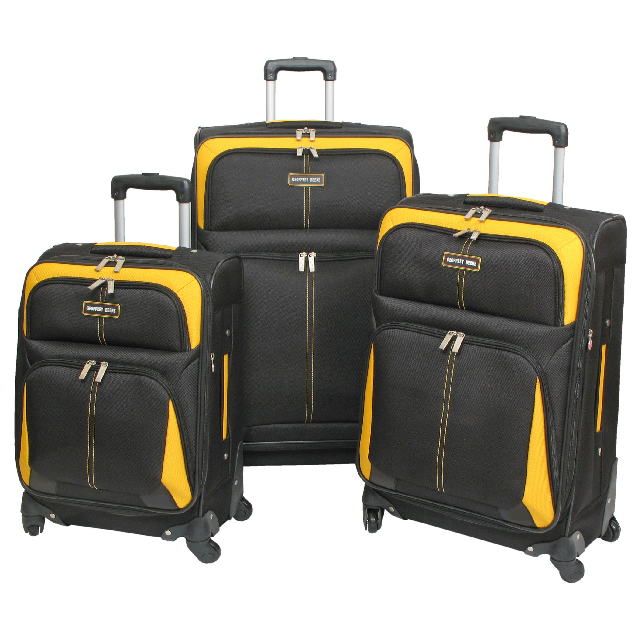 Overstock.com Geoffrey Beene Golden Gate 3-piece Spinner Luggage Set