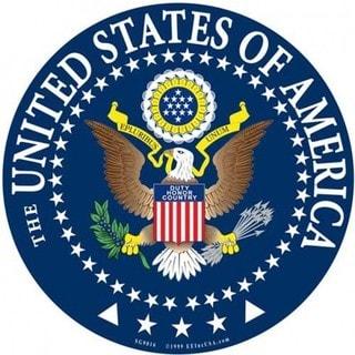 United States Military Seal Aluminum Sign