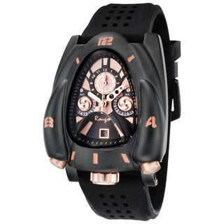Rougois Men's Rose Goldtone/ Black Rocket Watch