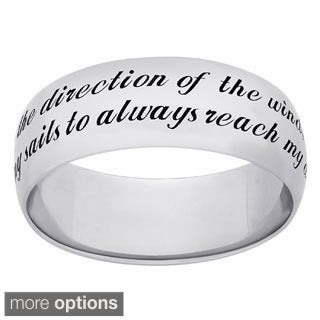 Sweet Sentiments Sterling Silver 'Strength' Message Ring