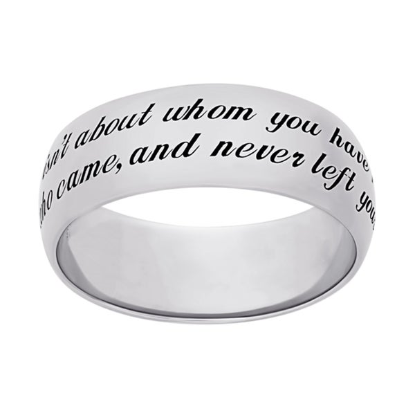 Sweet Sentiments Sterling Silver or Gold Over Sterling Silver 'Friends' Engraved Message Ring