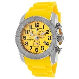 Swiss Legened Men's SL-11876-TI-07 Commander Yellow Watch