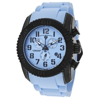 Swiss Legend Men's SL-11876-TIB-012 Commander Light Blue Watch