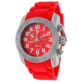 Swiss Legend Men's SL-11876-TI-05 Commander Red Watch