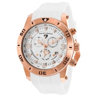 Swiss Legend Men's SL-10164-RG-02-WHT Everest Silvertone Chronograph Watch