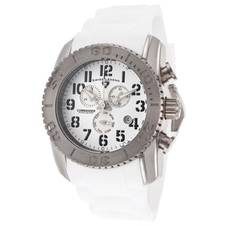 Swiss Legend Men's SL-11876-TI-02 Commander White Watch