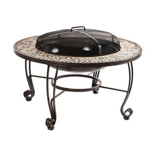 Vulcano Mosaic Wood Burning Fire Pit Table