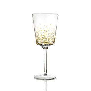 Gold Luster 9.1-ounces White Wine Glasses (Set of 4)