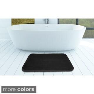 Indulgence Dots Memory Foam Bath Mat (Set of 2)