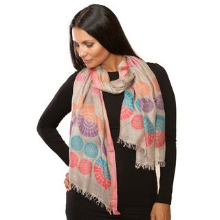 Hand-crafted Kumari Multicolored Cashmere Shawl (India)