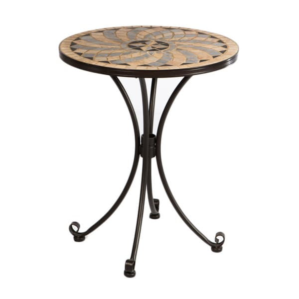 Formia Mosaic Outdoor Bistro Table Overstock Shopping Great Deals