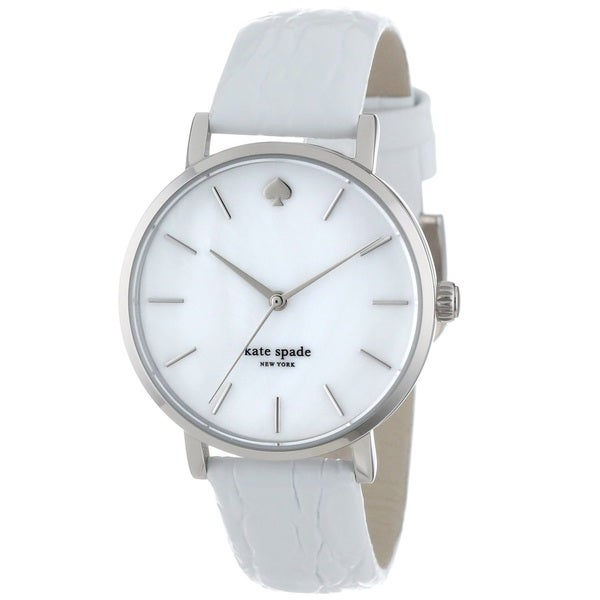 Kate Spade New York Women's 1YRU0155 'Metro' White Leather Watch