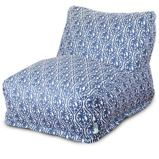 Majestic Home Goods Navy Blue Helix Bean Bag Lounger Chair