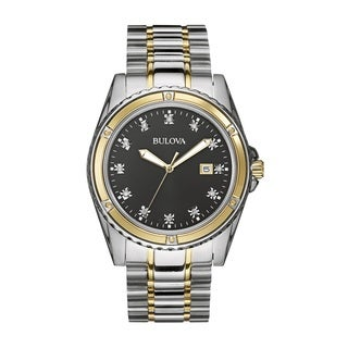 Bulova Men's 98D122 Stainless Steel and Diamond Watch